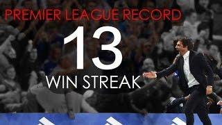 Conte`s Chelsea FC - Amazing 13 Games Win Streak - Premier League Record - HD