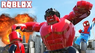 BECOMING RED HULK IN ROBLOX