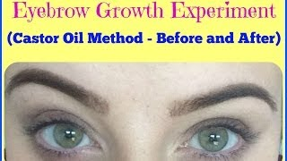 EXPERIMENT: Does Castor Oil Make Eyebrows Grow? Before and AFTER (My Experience)