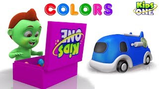 Learn COLORS with Cars Formation | Greeny Kiddo Play and Learn Colors for Children - KidsOne