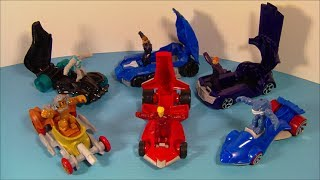 2010 HOT WHEELS BATTLE FORCE 5 SET OF 6 McDONALD'S HAPPY MEAL TOY'S VIDEO REVIEW