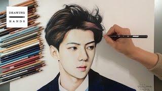 Speed Drawing EXO - Se hun [Drawing Hands]