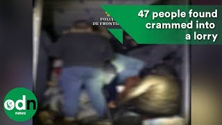 47 people found crammed into a lorry at Romania border