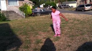 Tia's first time doing gymnastics!