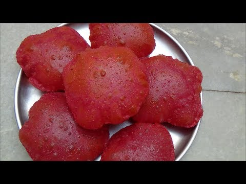 Poori Recipe-Beetroot Poori Recipe-Beetroot Puri Recipe by Healthy Food Kitchen