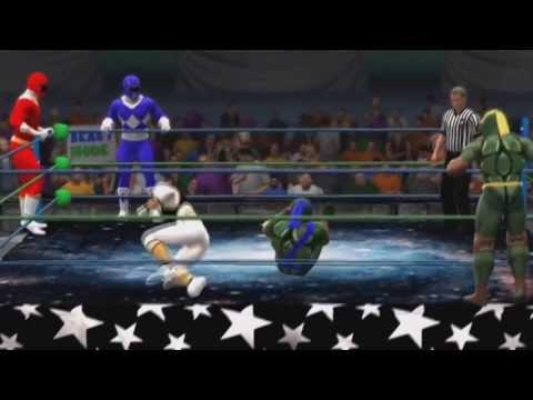 TMNT vs Power Rangers  [WWE2K14]