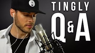 ASMR TINGLY Q&A | Tapping, Brushing & Scratching | Male Whispering