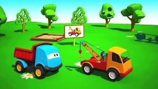 Leo la Troca Curiosa - Grúa - Carros para niños