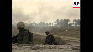 GWT: WRAP Dramatic footage of battle for Basra suburb, British artillery