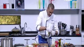 برنامج لقمة هنية | طريقة عمل ديك رومى مع الرز بالخلطة - فراخ على طريقة الديك الرومي - سلطة باذنجان