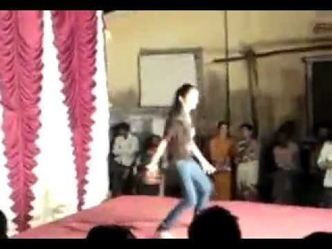 Indian Girl Funny Stage Dance