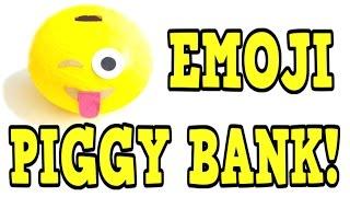 DIY EMOJI PIGGY BANK! Diy Coin bank tutorial! EASY Diy emoji craft idea!