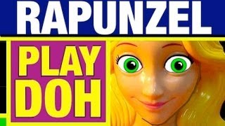 Play Doh Rapunzel Disney Princess Hair Designs Play Dough Set Toy Review by Mike Mozart