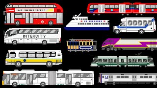 Public Transportation Vehicles - Trains, Buses, Boat - The Kids