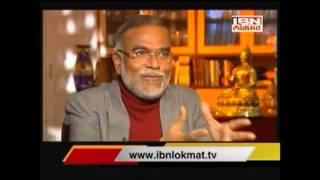 Dr. Narendra Jadhav - IBN Lokmat (Great Bhet) Part - 1