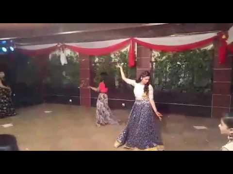 Bride and her sisters on ladies sangeet function