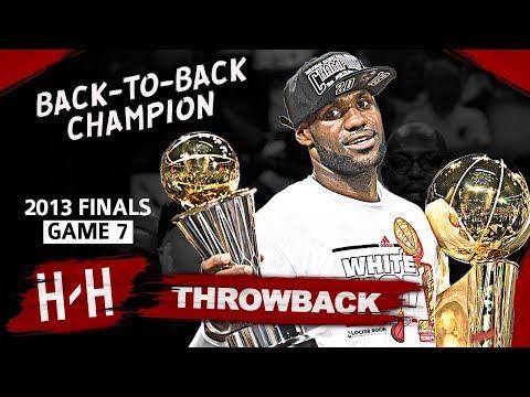 LeBron James Back To Back Championship Game 7 Highlights vs Spurs 2013 Finals 37 Pts CLUTCH HD