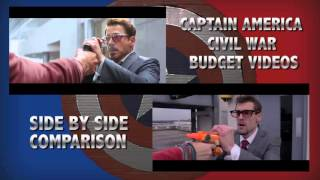Captain America: Civil War Trailer (Side By Side Comparison) - Budget Videos