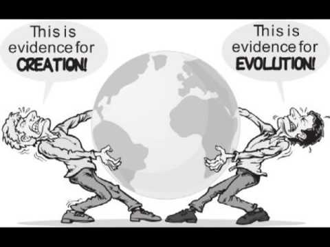 an argument between the theory of evolution and the belief in creationism