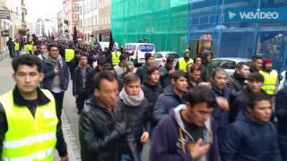 Muslim demonstration in Malmö, Sweden