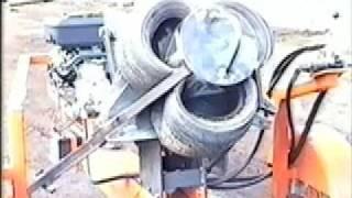 Wheel Crusher | TIre Cutter | TIre Recycling