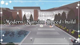Bloxburg - Modern Mansion Speed-build