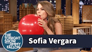 Sofia Vergara Chats with Jimmy While Sucking Helium