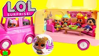 LOL Surprise Dolls Surprise Birthday Happy Camper Camping Trip Toy Video