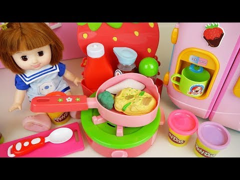 Xxx Mp4 Baby Doll Kitchen And Play Doh With Color Food Cooking Toys Play 3gp Sex