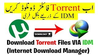 How to Download Torrent Files With IDM | High Speed with Unlimited Size