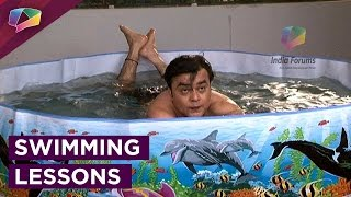 Saajan Agarwal teaches swimming to his boss on May I Come In Madam!