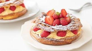 いちごのパリブレストの作り方 Strawberry Paris-Brest HidaMari Cooking