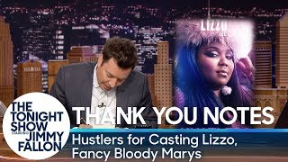 Thank You Notes:Hustlers for Casting Lizzo, Fancy Bloody Marys