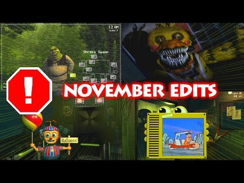 FNaF Edits COMPILATION   November 2016   epicsurfingvids
