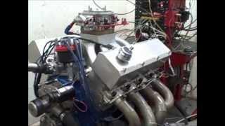 1100 HP Big Block Ford 605 CID Race Engine Dyno Test