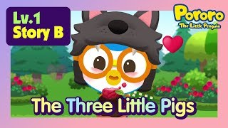 [Lv.1] The Three Little Pigs in a Cookie House?   Bed time story for kids   Fairy Tales   Pororo