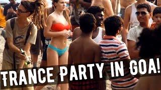 TRANCE BEACH PARTY in GOA! Arambol - psychedelic trance party in Arambol - near Sweet Lake