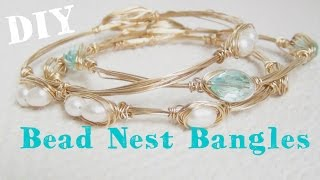 Beaded Nest Bangle ♥ DIY