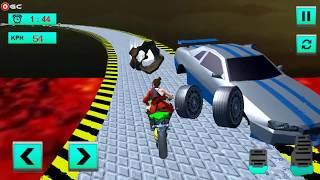 Super Hero Moto Bike Lava Impossible Tracks 3D 2018 / Bike Stunt Racing / Android Gameplay