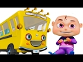 Download Video Wheels On The Bus With Five Little Babies | Nursery Rhymes Compilation | Zool Babies Fun Songs 3GP MP4 FLV