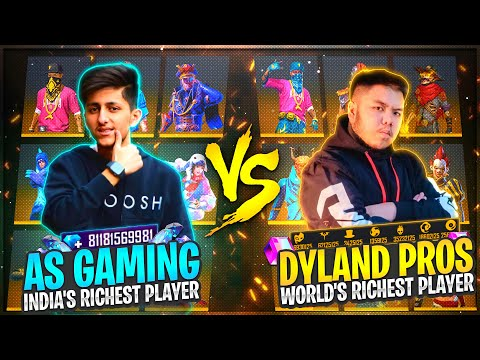 As Gaming Vs Dyland Pros Richest Collection Versus Of Free Fire Who Will Win Garena Free Fire