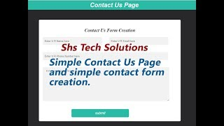 Contact Us page in html  and css | Contact Form creation using html and css
