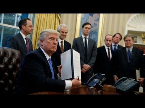 watch President Trump signs 3 executive orders, withdraws US from TPP