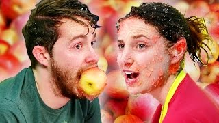 Coworkers Go Bobbing For Apples … In Jello!