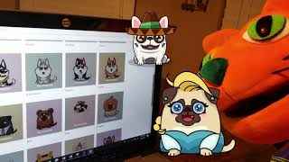 Cryptopuppies Tron Dogs Game & Pet Store with Ralphie The Orange Cat