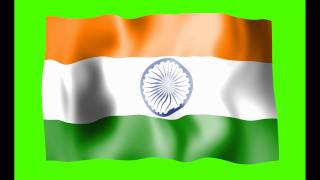 India Flag Green Screen - Free Royalty Footage