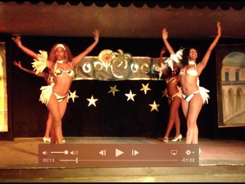 Las chicas del Ballet Ache Habana en Hotel Tropicoco