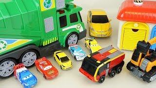 Cars and Carbot car toys truck and robot transforming play