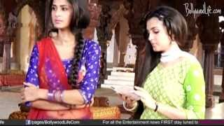 On the set footage of  Serial Saraswati Chandra