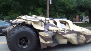 3 Tumblers (Batmobile) DRIVING On The Streets!!!